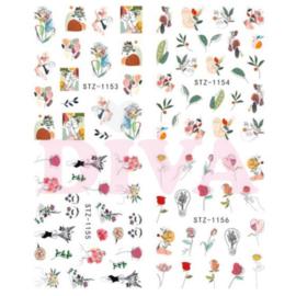 Waterdecals 004 Flowers