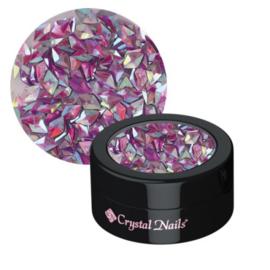 Nail decoration glitter 3D violet