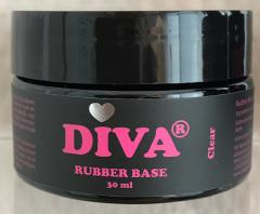 Diva Gellak Rubber Base Coat Clear 30 ml