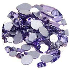 Crystal Facet Strass Lavendel