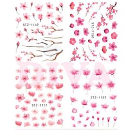 Waterdecals 003 Flowers