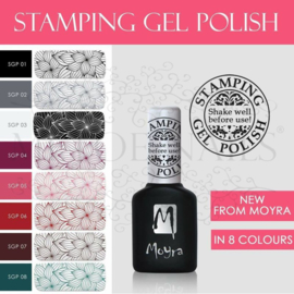 Moyra Stamping Gel Polish Complete Serie.