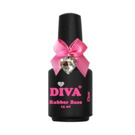 Diva Gellak Rubber Base Coat Clear 15 ml
