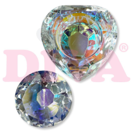 Crystal Heart Dappendish Clear