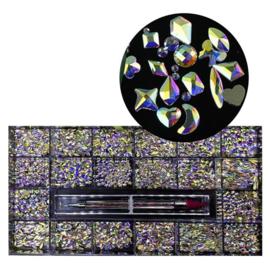 Diva Crystal AB Box met Tool Exclusive Shapes
