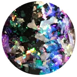 Hologram Flakes Silver