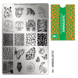 Moyra Stamping Plaat 04 Animalistic