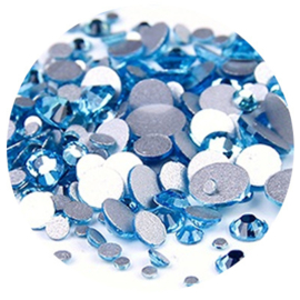 Crystal Facet Strass Aquamarijn