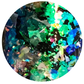 Hologram Flakes Blue Green