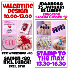 Valentine Design en Stamp to the max By Sacha Gossen ma 25 januari 2021