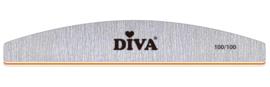 10 Diva Zebra Vijl Half Moon 100/100