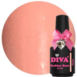 Diva Gellak Rubber Base Coat Peach 15 ml
