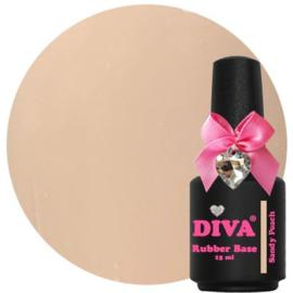Diva Gellak Rubber Basecoat Sandy Peach 15 m