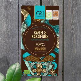 Georgia Ramon - Koffie en cacao nibs 55% melkchocolade