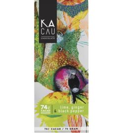 Kacau - Limoen, gember en zwarte peper 74%