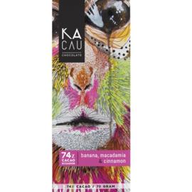 Kacau - Banaan, macadamia en kaneel 74%