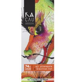 Kacau - Ananas en pecannoten 74%