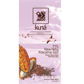 Kuná - Zout en raw nibs 71%