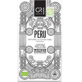 Georgia Ramon - Peru Natural & cacao nibs 45% witte chocolade