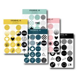 Aanbiedingsset van 5 stickervellen (stel zelf je set samen)