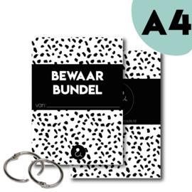 Bewaarbundel A4 - zwart/wit