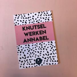 A4 Bewaarbundel - Roze - Knutselwerken Annabel