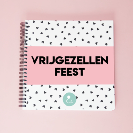 Invulboek voor je vrijgezellenfeest - roze