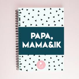 Papa, mama&ik   invulboek voor papa's en mama's - LICHTBESCHADIGD