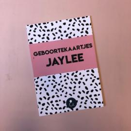 A4 Bewaarbundel - Roze - Geboortekaartjes Jaylee