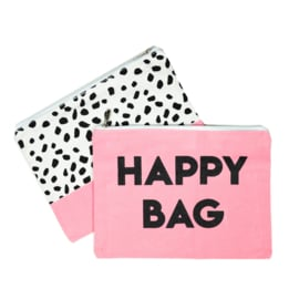 Etuis 'Happy Bag' - roze - LICHTBESCHADIGD