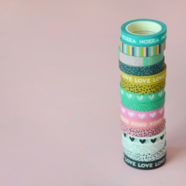 Pakket: 5 washi tapes