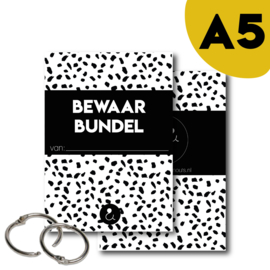Bewaarbundel A5 - zwart/wit