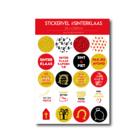 Stickervel 'Sinterklaas'