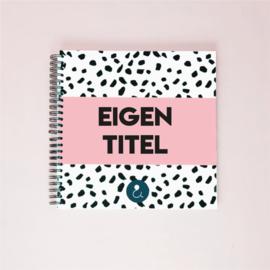 Plakboek met eigen titel - roze