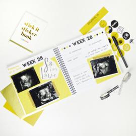 Invulboek zwangerschap - monochrome
