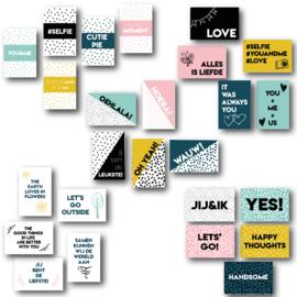 Set van 25 quote kaartjes - love (algemeen)