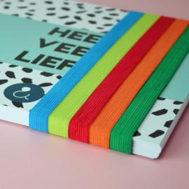 Kraambezoekboek - okergeel