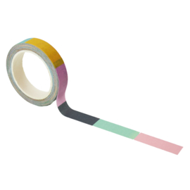 Washi tape met kleur: Color blocked
