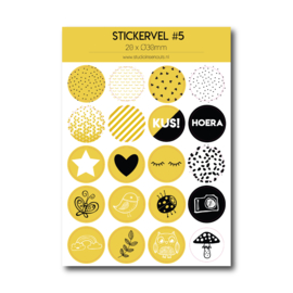 Stickervel #5 - okergeel
