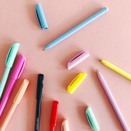Kleurrijke balpennen set