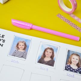 Schoolfotoboek België - lichtblauw