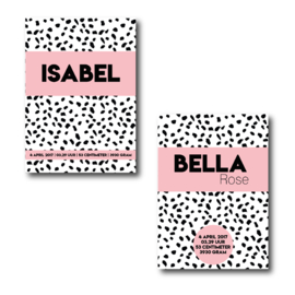 Geboorteposter big dots   pink