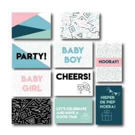 Set van 10 quote kaartjes - Celebrate! (limited edition)