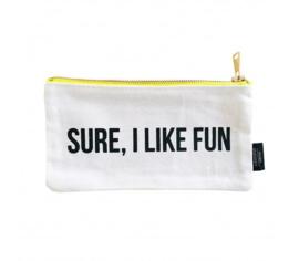 Etui met quote: Sure I like fun S