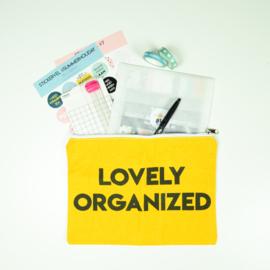 Etuis 'Lovely Organized' - okergeel