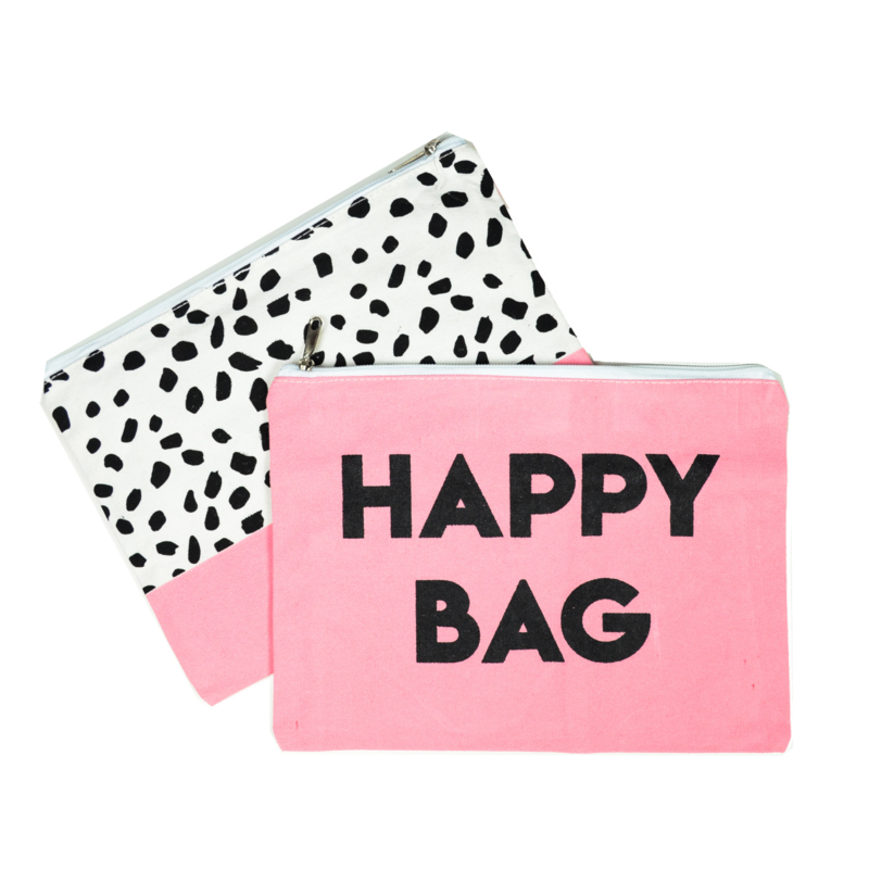 Etuis 'Happy Bag' - roze