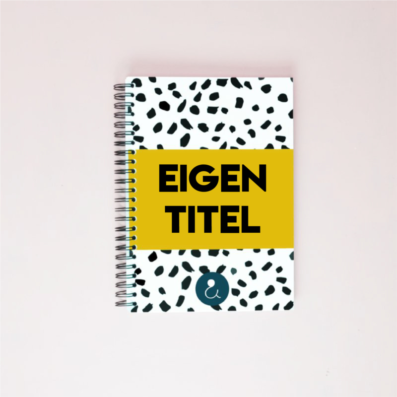 Plakboek met eigen titel (A5) - okergeel