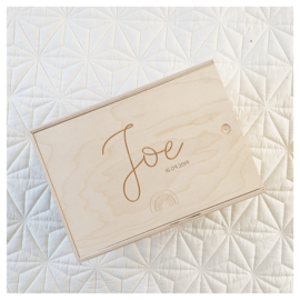 "HOUTEN MEMORYBOX GEGRAVEERD | ""JOE"""