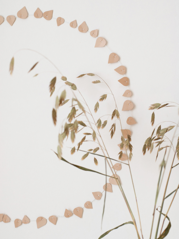 JURIANNE MATTER TWIG LEAVES - blushing beige