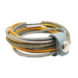 Leather Wrap Ocre Taupe